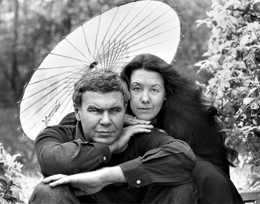 Tess Gallagher (right), a distinguished author herself, and Raymond Carver.